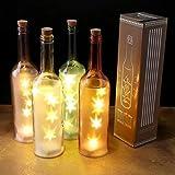 Vintage-LED-Licht in einer Glasflasche