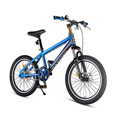 Pliant Vélo 7 Vitesse VTT 20 Pouces avec Frein à Disque pour Adulte,Blue