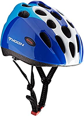 Moon HB5-3 Boys' Kids Helmet - Blue, Medium (53-56 cm) by Moon