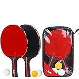 LLFS - Juego de 2 Pelotas de Tenis de Mesa, Tenis de Mesa Portátil (2 Bates y 3 Bolas), Perfecto para la Escuela, Oficina, Club Deportivo