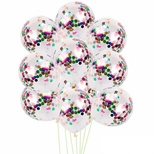 Magic Pailletten Ballon HARRYSTORE 10 Stück 12 Zoll Folie Latex Konfetti Multicolor Ballon Set Hochzeit Geburtstag Baby Shower (Mehrfarbig)