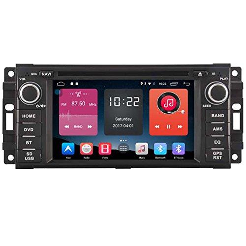 autosion in Dash Android 6.0Auto DVD-Player Radio Head Unit GPS Navigation Stereo für Chrysler Jeep Dodge Mitsubishi Raider unterstützt Bluetooth SD USB Radio OBD WIFI DVR 1080P Chrysler Jeep Dodge Auto Radio