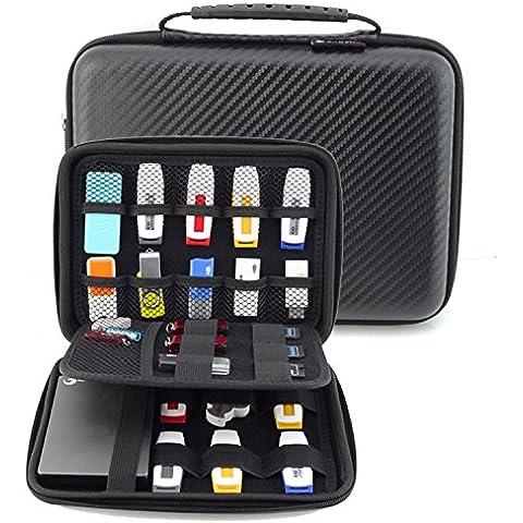 acxeon electrónica accesorios Travel Organizer, organizador de viaje para cubos de embalaje, Disco duro antigolpes Funda Viaje, cable, Power Bank Case/USB Pocuh, bolsa impermeable