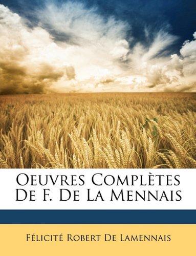 Oeuvres Complètes De F. De La Mennais