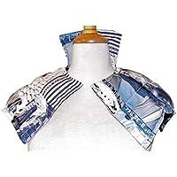 Körnerkissen Wärmekissen Dinkelkissen Segeln oder blau kariert 100% Baumwolle ca. 28x60cm