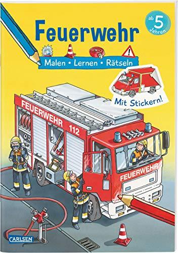 Feuerwehr: Malen Lernen Rätseln: Mit Stickern!