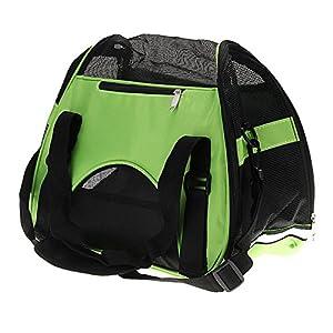 Sac de transport panier cage pas cher pour chien et chats fashion dogs coloris rose,bleu,vert avec 2 tailles disponibles