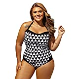 WYMNAME Bañadores de mujer tallas grandes,Trajes de baño enterizos Alta talle Control de abdomen Bikini-A XXXL
