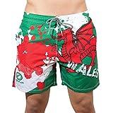 Optimum Unisex Senior Beachbums Wales Swim Shorts, Multi-Colour, Medium