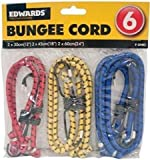 Assorted Elastic Bungee Cord Set - 6 Pack