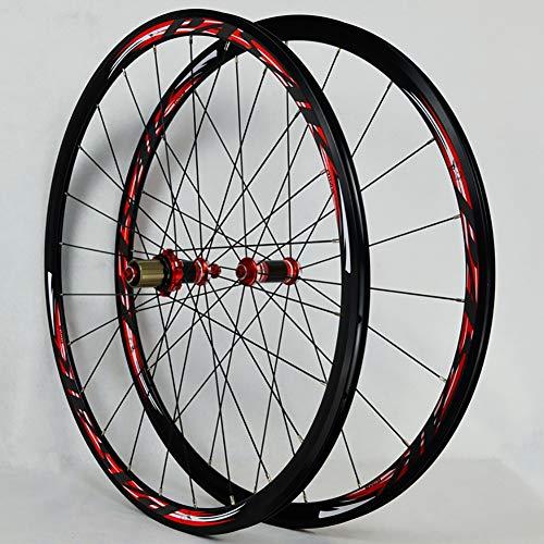 el-Straßenradsatz Rennrad Laufradsatz Scheibenbremse 7/8/9/10/11 Geschwindigkeit,Red ()
