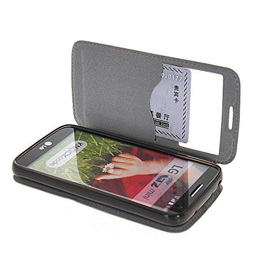 MOONCASE Coque en Cuir Portefeuille Housse de Protection Étui à rabat Case pour Apple iPhone 6 (4.7 inch) Brun Rose 01