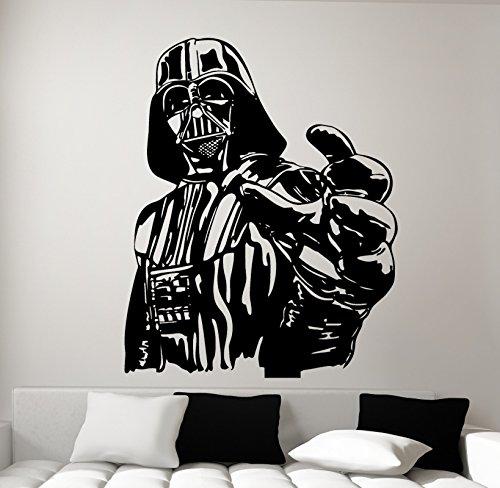 Vinilo de pared, diseño de Darth Vader de Star Wars, vinilo, negro, pequeño