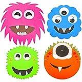 8 Monster Alien Halloween Masken aus Schaumstoff-Fun-Children's Face Masks von Spielzeug-Frosch Blau