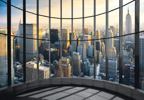*Eurographics DW-DT2011 Deco Wall Fototapete New York Office View 254 x 366 cm*
