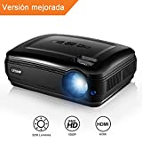 Proyector, 1080P HD Cine Privado Proyector de Escritorio Multimedia, LCD 3200 Eficiencia de Luz Proyector de Cine En Casa Compatibilidad con Xbox/VGA /USB/HDMI para iPad/iPhone/Android/Smartphone/TV