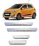 #9: FABTEC Stylish Premium Quality Matrix LED Car Foot Step Sill Plate For Hyundai I10 Grand