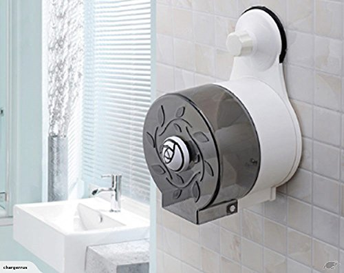 ASkyl Waterproof Tissue roll Holder for Toilet -Black&White