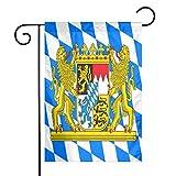 LJB Bandiera Baviera con Leoni, Decorazione da Giardino, Decorazione per la casa, Il Cortile, per Esterni, 30,5 x 45,7 cm