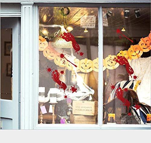 Blut Handprint Schlafzimmer Wandaufkleber Direkt Neue Glas Fenster Wohnzimmer Klassenzimmer Dekoration Wandaufkleber Abnehmbare Aufkleber ()