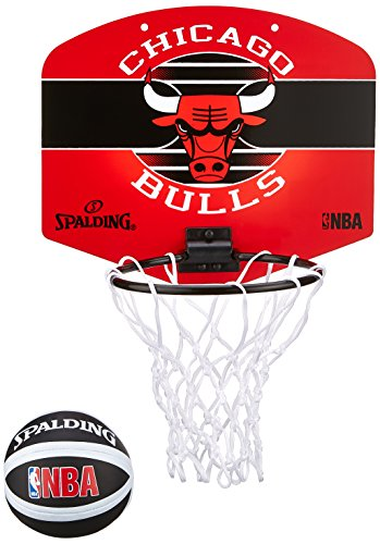 Spalding Nba Chicago Bulls Panier + Ballon Mixte Enfant, Multicolore