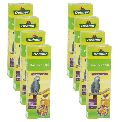 Dehner Knabberspaß mit Honig für Papageien, 8 x 2 Stück, 1er Pack (1 x 1.74 kg)