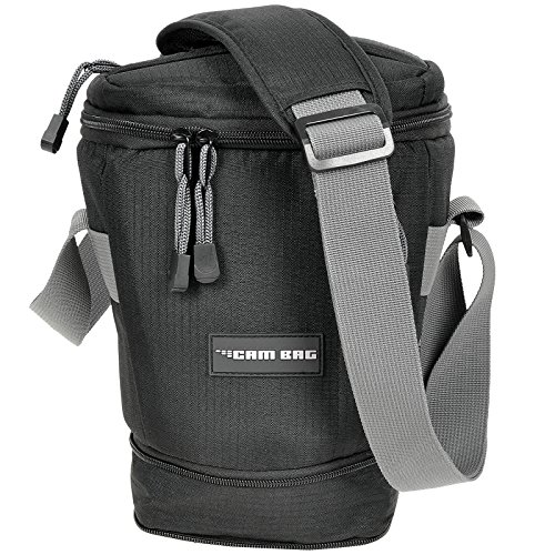 Kameratasche CAMBAG Fototasche Video D-SLR Kamera mit Wechselobjektive und Zubehör, Grösse M - XL Schwarz AUSWAHL (Colt Flex - erweiterbar)