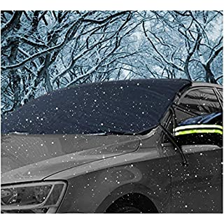AUPERTO Windscreen Cover Winter Car Windscreen Snow Cover Sun Protection Sun Visor Windscreen Cover Foldable Removable Anti-Snow Wind Frost Optima for Saloon