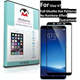 Mobonic |2.5D 9H Full Cover| |Full Glue| |No Dot Patterns No Rainbow Guaranteed| |Gorilla Glass| |Scratch Shock Proof| |Anti Explosion| |Tempered Glass| Screen Protector Shield For Vivo V7 [0.3mm 2.5D Curved Ultra HD Clear Proper Camera And Sensor Cut]