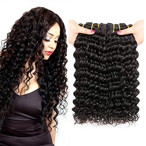 PF Hair 9A Brazilian Deep Wave Hair Bundles 14 16 18 inch 300grams Unprocessed Virgin Human Hair Extensions Locken Echthaar Brasilianisch Haar Bündel Tiefen Welle Brazilian Deep Curly Hair