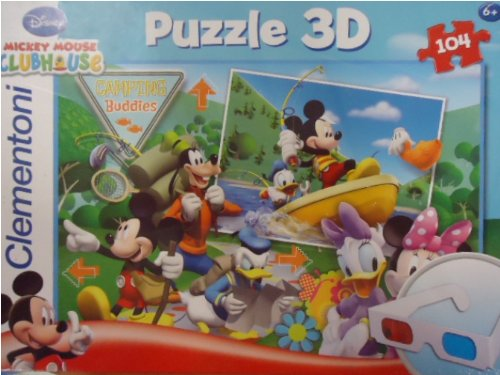 Preisvergleich Produktbild Clementoni 20030.6 - Puzzle Magic 3D - 104 teilig Mickey Mouse - The Upslide