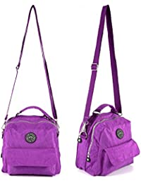 Anladia FEMME FOURRE-TOUT Sac bandoulière Messenger Sac à main Sac de loisir Maman Mère Cross Body Handbag voyage vacance Nylon Multi-couleurs