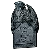 Design Toscano Hell's Kitchen, Skulpturales Wandschild