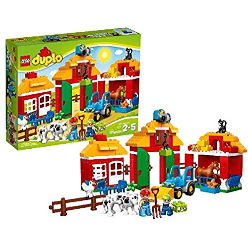 LEGO Duplo 10525 - Großer Bauernhof, Kleinkinder-Spielzeug, große Bausteine - Spielzeug-bauernhof-gebäude