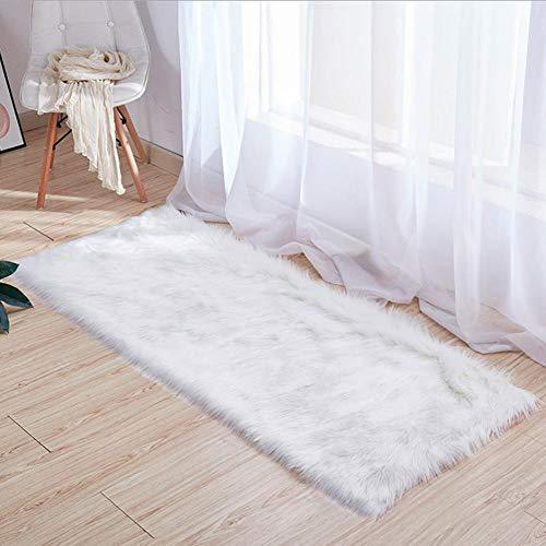 Kitabetty Alfombras de área de piel sintética suave, alfombras de lujo para alfombras de dormitorio...