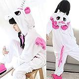 Hiwill Unisex Pigiama Adulto Animale Cosplay Halloween Onesie Costume Fancy Dress Loungewear (Pink Unicorn,6T)