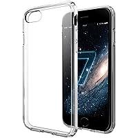 vau Hybrid Case Hülle für Apple iPhone 8 / 7 Diamantschwarz, Schutzhülle transparent