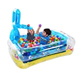 ZY YZ Aufblasbares Swimmingpool-Baby-aufblasbares Ball-Pool-Basketball-Pool-Kinderplanschbecken (Farbe : Blau)