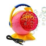 Máquina de burbujas para niños, Máquina automática de burbujas con cable cargador USB para exteriores, interior, fiesta de cumpleaños, fiesta de festivales de interior, rosa