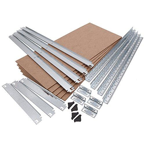 Lagerregal verzinkt belastbar bis 875 kg – Maße: 180 x 90 x 40 cm Regal Steckregal Kellerregal Werkstattregal Schwerlastregal - 2