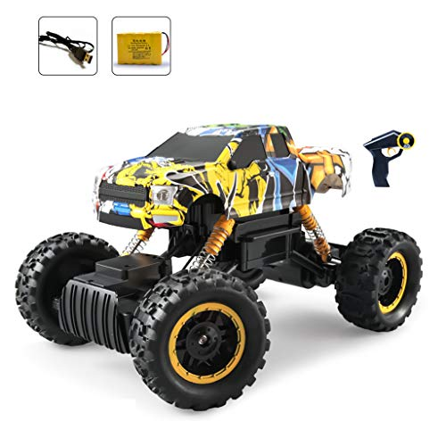 RC Cars/Fernbedienung Monster Truck Off Road Auto Big Foot RC , Persönlichkeit Doodle Buggy , 4WD Electric Power Buggy W / 2.4G Challenger , Spielzeugauto-Modell für Kinder