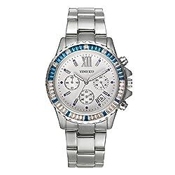 Time100 Fashion Multifunction Three circles Chronograph Quartz Mens Watch W50327G.03A