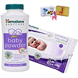 Himalaya Herbals Baby Powder (200g)+Himalaya Herbals Soothing Baby Wipes (24 Sheets) With Happy Baby Luxurious Kids Soap With Toy (100gm)