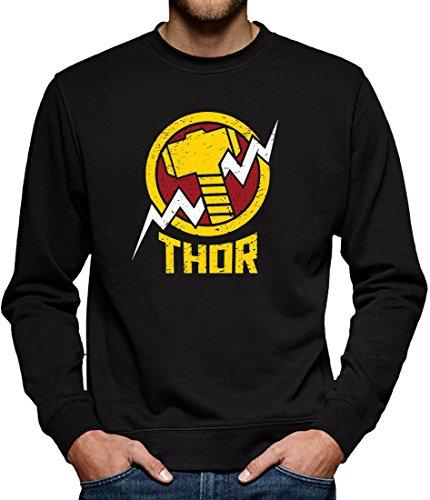 TLM Avengers Thor Sweatshirt Pullover Herren XXXXL Schwarz (Flash Superhelden Kostüm Hund)