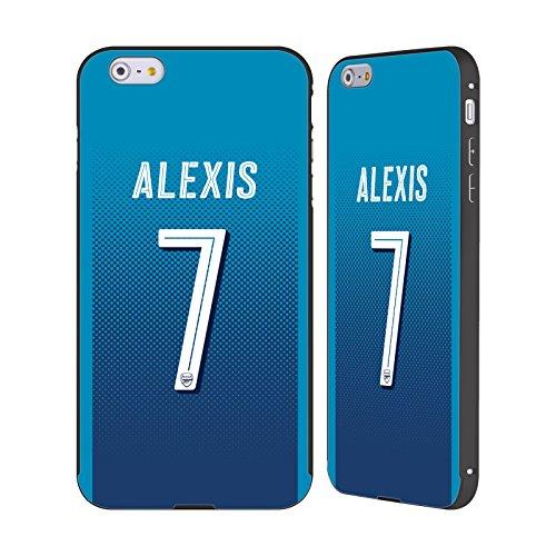 Ufficiale Arsenal FC Lucas Pérez 2017/18 Giocatori Away Kit Gruppo 1 Nero Cover Contorno con Bumper in Alluminio per Apple iPhone 6 Plus / 6s Plus Alexis Sánchez