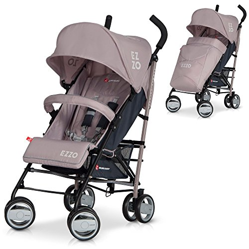 Baby Stroller Pram EZZO High Class Aluminium Pushchair - foldable, Colour Mocca