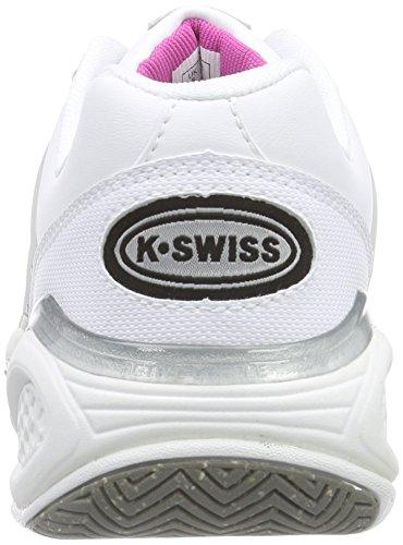 K-Swiss Performance KS TFW Defier DS-Wht/Ltgry/Rspbrryrse, Scarpe da Tennis da Donna Multicolore (wht/ltgry/rspbrryrse)