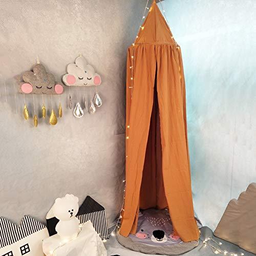 hin Betthimmel Kinder Babys Bett Baumwolle Hängende Moskiton Für Schlafzimmer Ankleidezimmer Spiel Lesen 50 * 240 * 270Cm,Orange ()