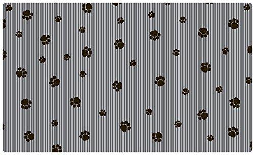 Drymate klein/mittel Pet Tischset in Paw Streifen Design -