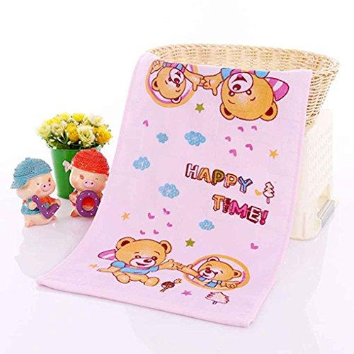 censhaorme Kinder doppelte Schichten Gaze-Tuch mit Blumenmustern Muster aus Reiner Baumwolle Handtuch Zufall -